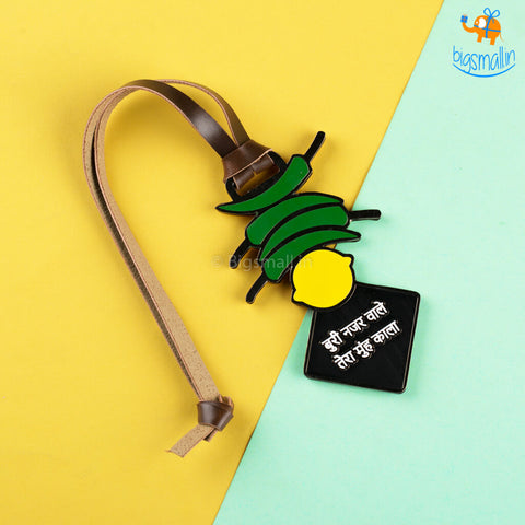 Nimbu Mirchi Luggage Tag