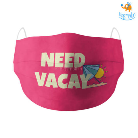 Need Vacay Cotton Mask With Filter