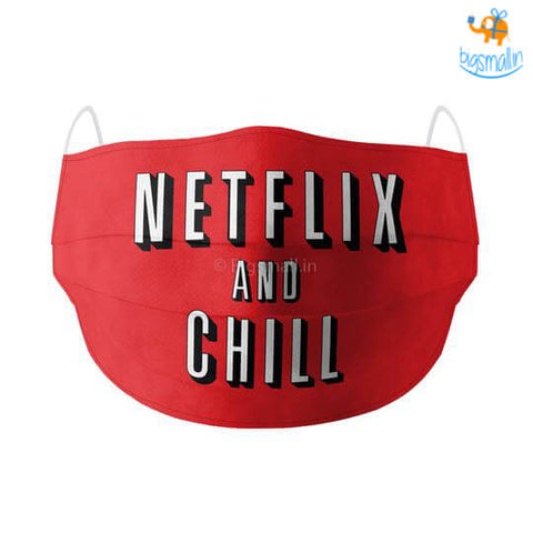 Netflix & Chill Cotton Mask With Filter