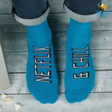 Men Netflix and Chill Socks - bigsmall.in
