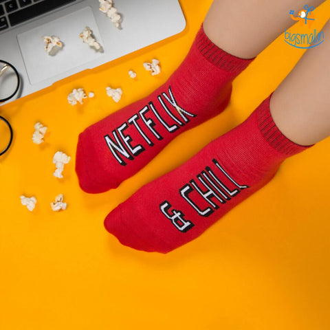 Women Netflix and Chill Socks - bigsmall.in