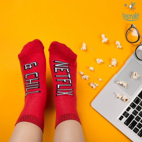 Women Netflix and Chill Socks