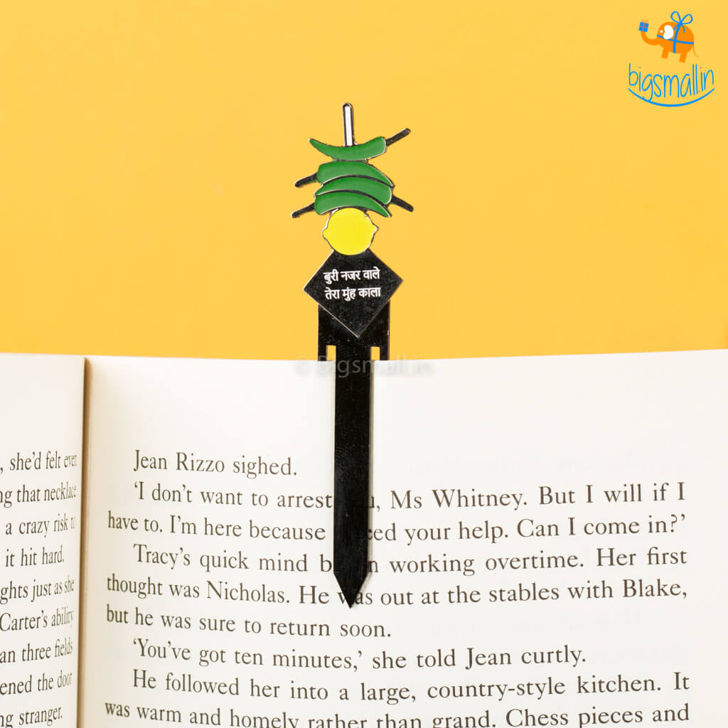Nimbu Mirchi Metallic Bookmark