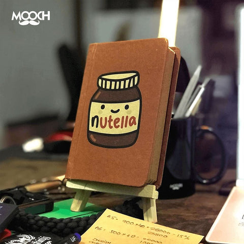 Nutella A6 Notebook With Elastic - bigsmall.in