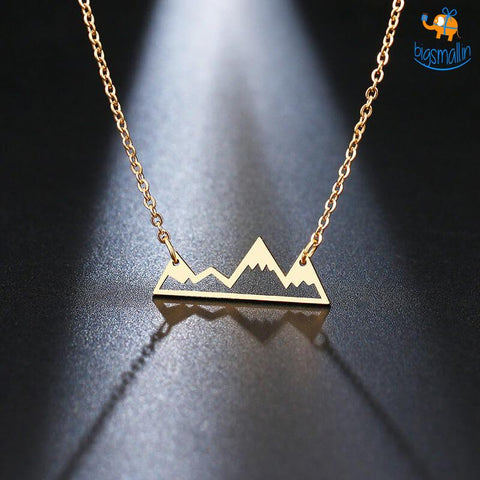 On Top of The World Mountain Necklace - bigsmall.in