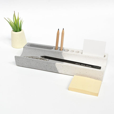 Concrete Desk Stationery Organizer - bigsmall.in