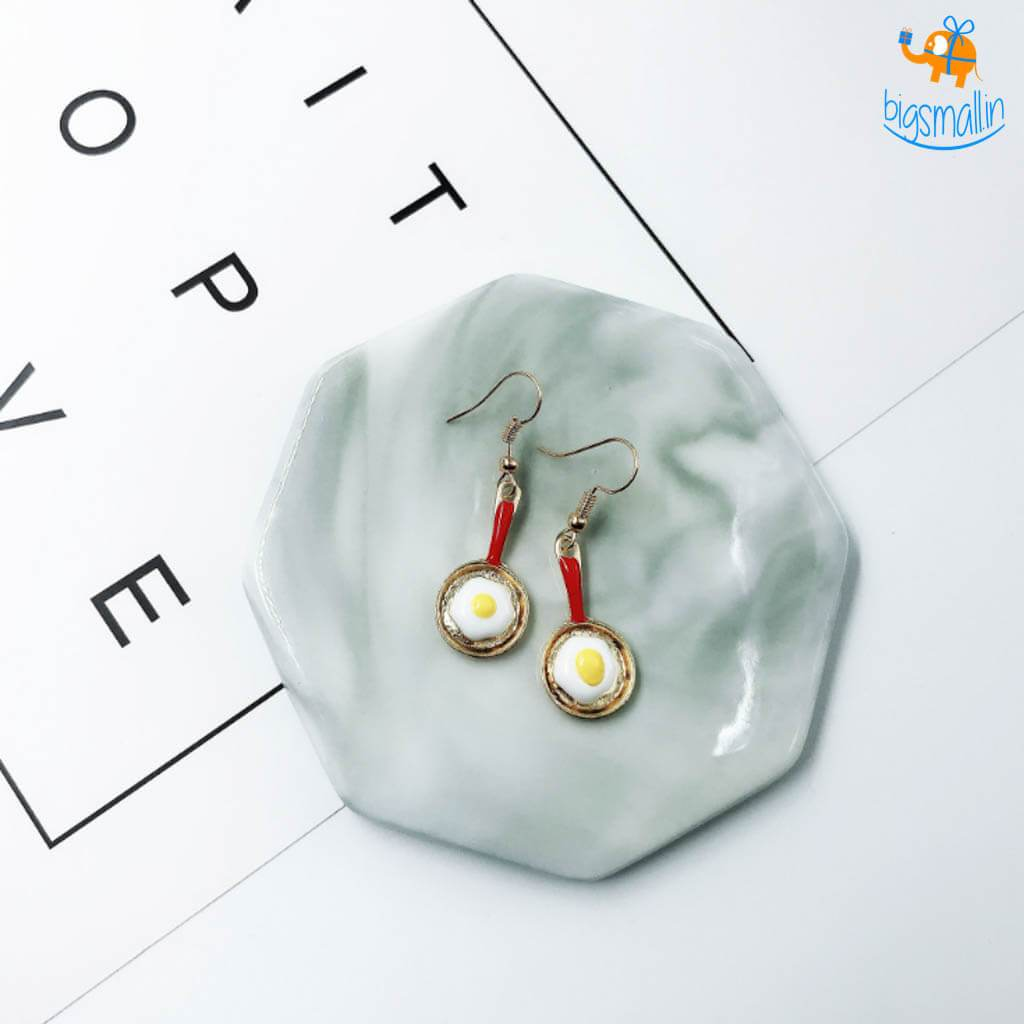 Pan Omelet Earrings - bigsmall.in