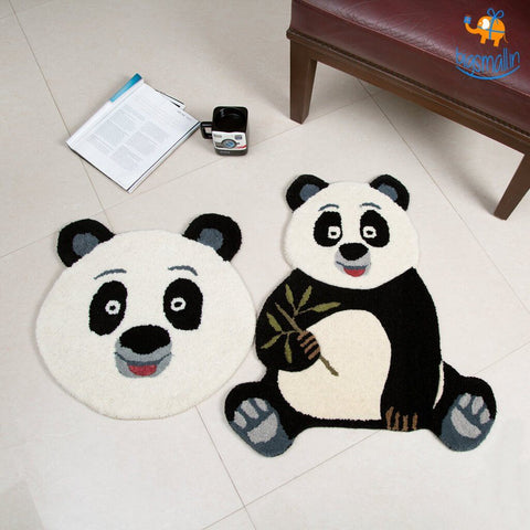 Handcrafted Panda Shaped Rug