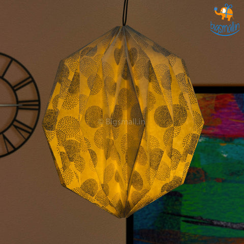 Silver Patterned Paper Lantern