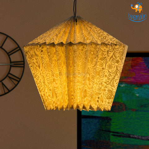 Gold Patterned Paper Lantern