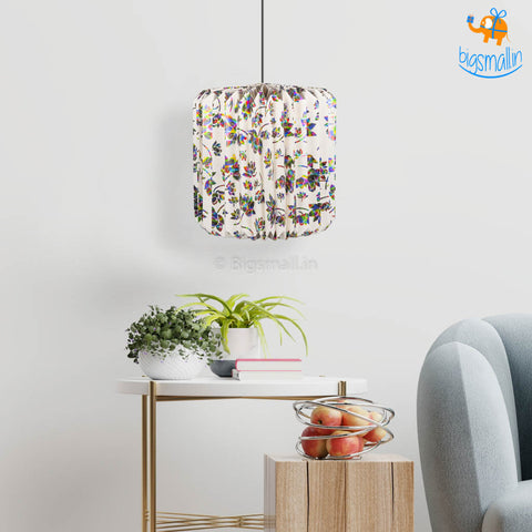 Multicolored Patterned Paper Lantern