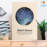 Personalized Wooden Frame - Stars Above Us | COD not available