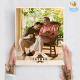 Father's Day Personalized Wooden Print Frame | COD not available - bigsmall.in
