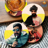 Personalized Comic Wooden Coasters | COD Not available
