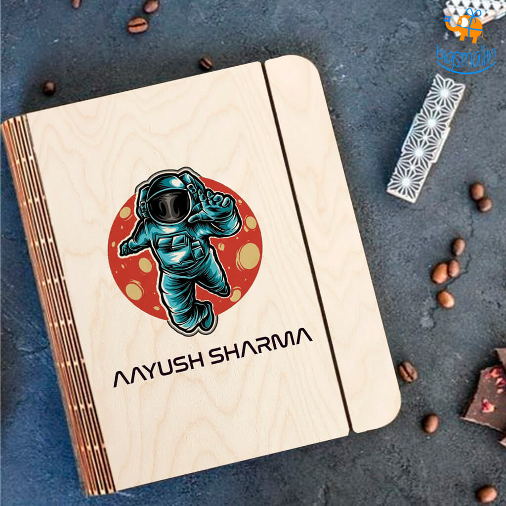 Personalized Astro Theme Wooden Binder Diary | COD Not Available