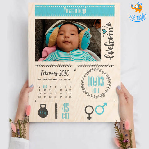 Personalized Newborn Baby Portrait Frame | COD not available