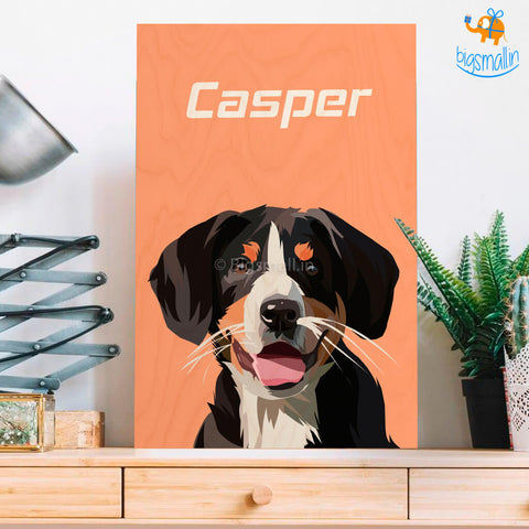 Personalized Pets Caricature Wooden Portrait | COD not available