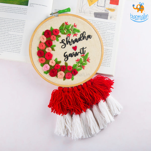 Personalized Embroidery Hoop Wall Art | COD Not Available