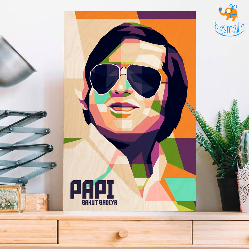 Personalized Pop Art Wooden Frame | COD not available