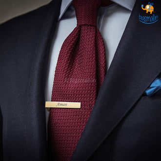 Personalized Metallic Tie Clip I COD Not Available