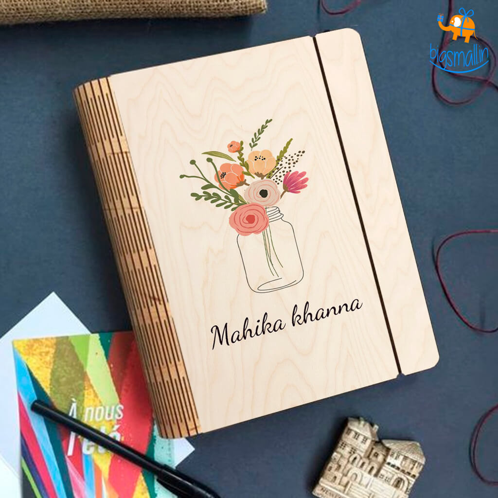 Personalized Wooden Binder With Elastic Strap | COD Not Available