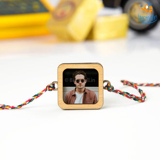 Personalized Photo Rakhi With Magnet | COD Not Available