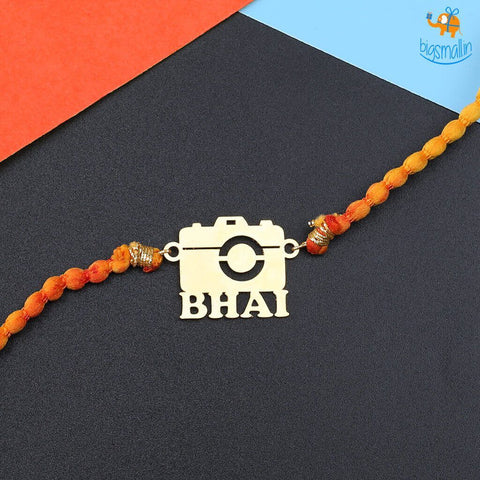 Photographer Bhai Rakhi Gift Set - 4 pc - bigsmall.in