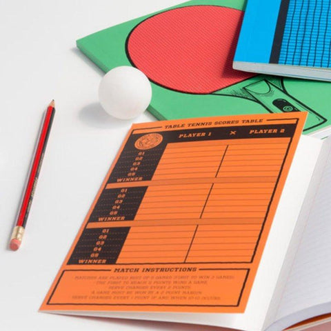 Table Tennis Rubberpad Notebooks - Set of 3 - bigsmall.in