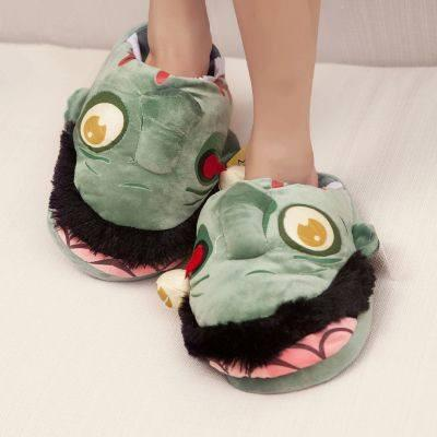 Plush Zombie Slippers - bigsmall.in