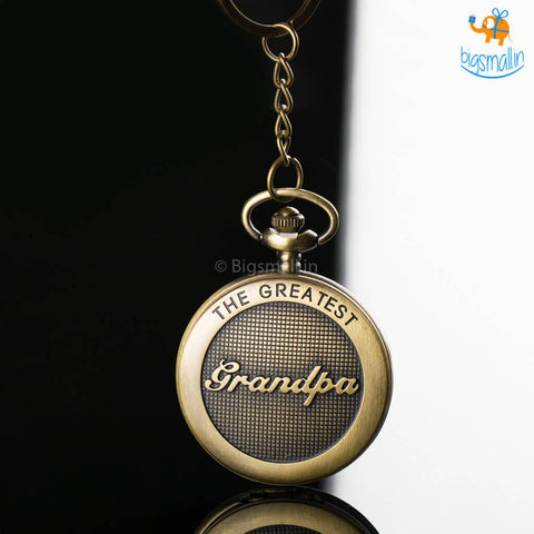 Grandpa Pocket Watch Keychain - bigsmall.in