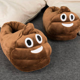 Poop Emoji Plush Slippers (UK 3 - UK 6)