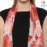Paint It Red Modal Scarf - bigsmall.in