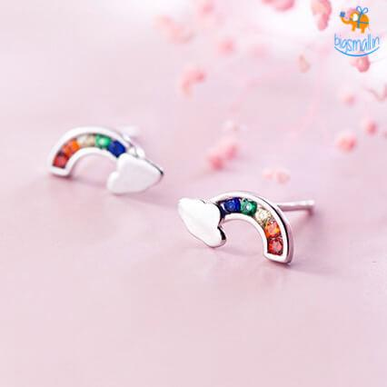 Rainbow Ear Studs - bigsmall.in