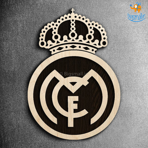 Real Madrid Engraved Wooden Crest