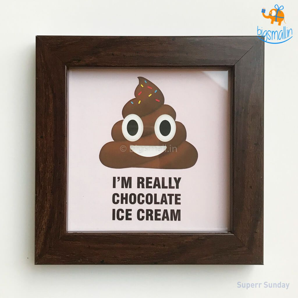 Really A Chocolate Ice Cream Mini Wooden Frame - bigsmall.in