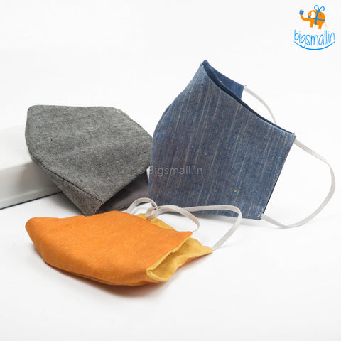 Reusable Cotton Masks - Set of 3 (Assorted Colors)