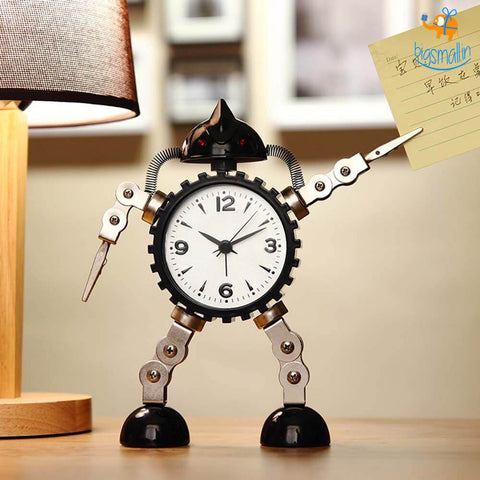 Robot Desk Alarm Clock - bigsmall.in