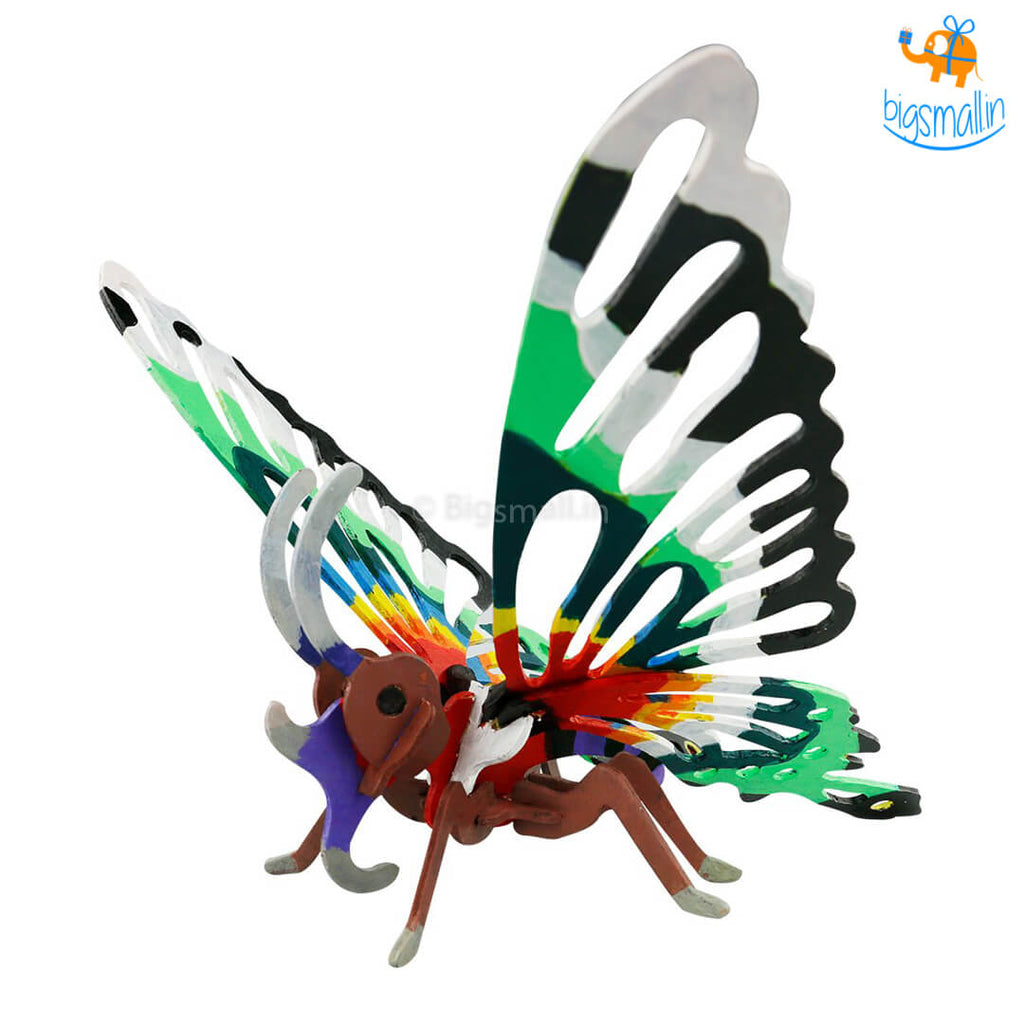 Painting 3D Wooden Puzzle - Butterfly