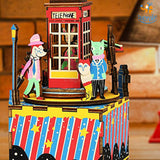DIY Music Box Wooden Puzzle - Phone Booth