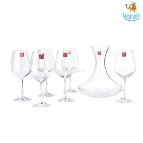 Wine Tasting Set - Wine Glasses and Decanter - bigsmall.in
