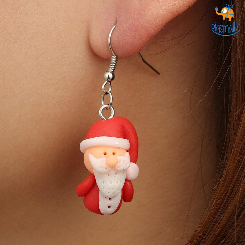 Santa Earrings - bigsmall.in