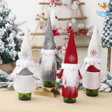 Santa Claus Felt Wine Bottle Covers - Set of 2 - bigsmall.in