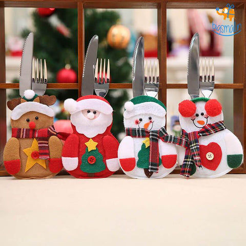 Christmas Cutlery Cover - Pack Of 4 - bigsmall.in