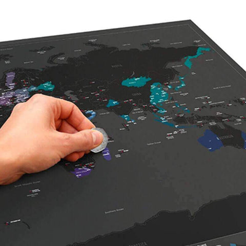 Travel Scratch Map - Dark Edition - bigsmall.in