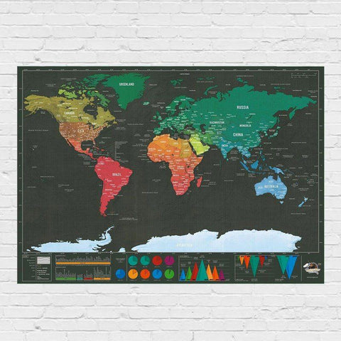 Buy scratch world map travel gift online india bigsmall scratch world map bigsmall gumiabroncs Choice Image