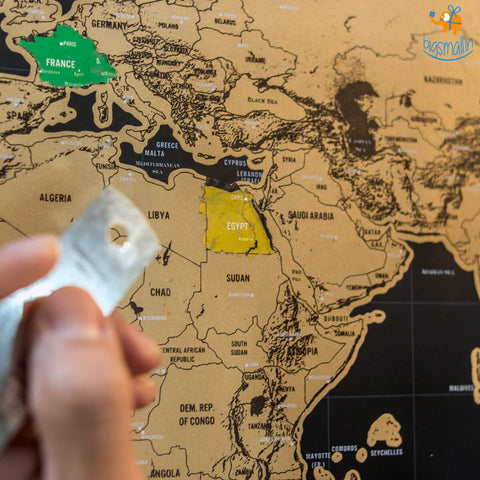 Buy Scratch World Map Travel Gift Online India – Bigsmall.in