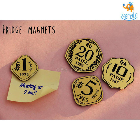 Paise Fridge Magnets - Set Of 4 - bigsmall.in
