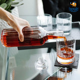 Whiskey On the Rocks Decanter & Glass Set - 5 Pc