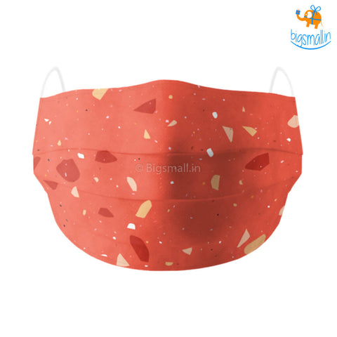 Shatter Print Cotton Mask With Filter