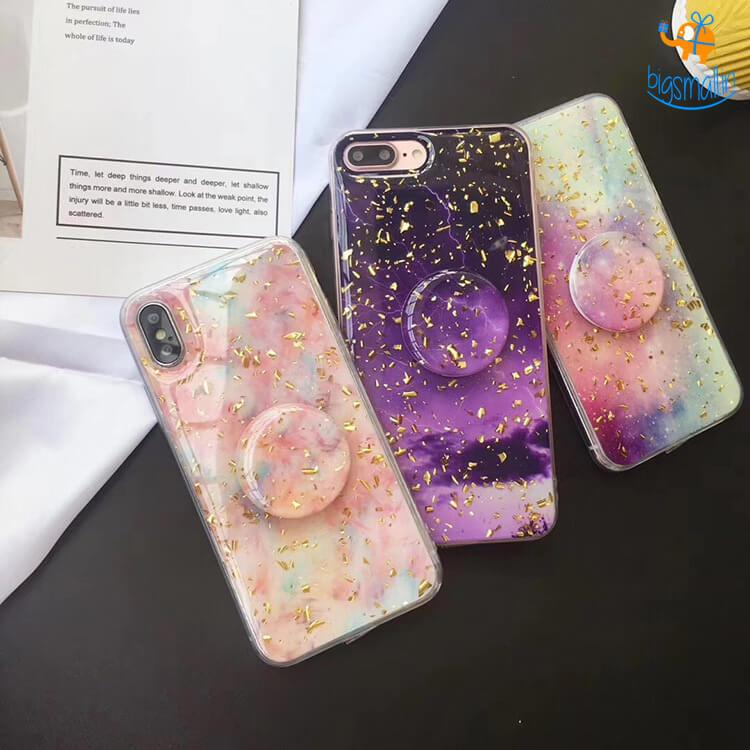 Space Colours iPhone Cover with Pop Socket - bigsmall.in
